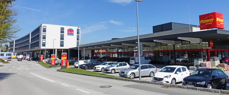 Einzelhandel und uns Hotel in Salzburg