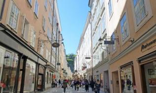 Einkaufsgasse Altstadt Salzburg