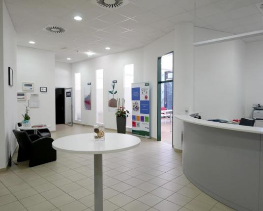 Empfangs-, Eingangsbereich eines Büros