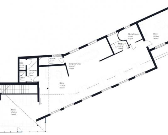 Innovativ Büro mit Terrasse
