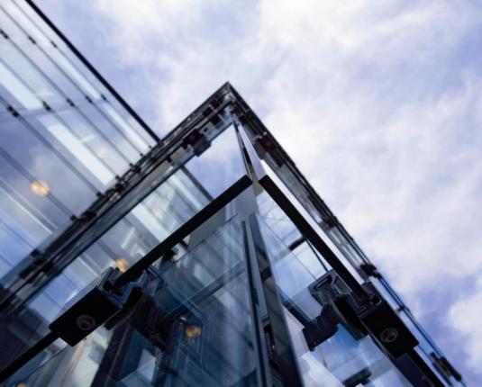 Detailansicht der Glasfassade