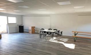 Großzügige Fläche, ideal für Seminare und Fitness
