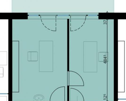 Grundriss eines Büros in Wals