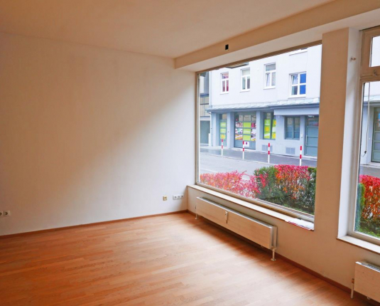 Geschäftslokal mit Blick aus den Schaufenstern