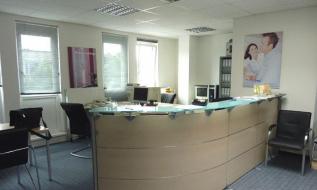 Empfangsbereich eines kleinen Büros