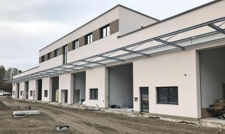 Außenansicht Baufortschritt einer Betriebsliegenschaft