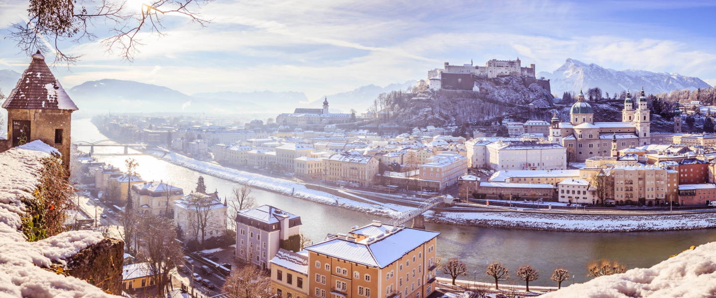 Winteransicht Stadt Salzburg