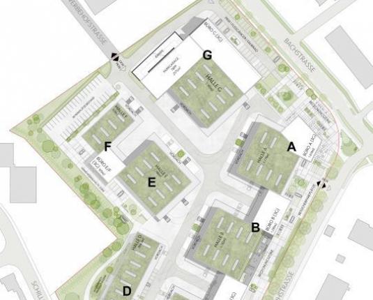 Flexible Halle in innovativem Nebau-Gewerbepark