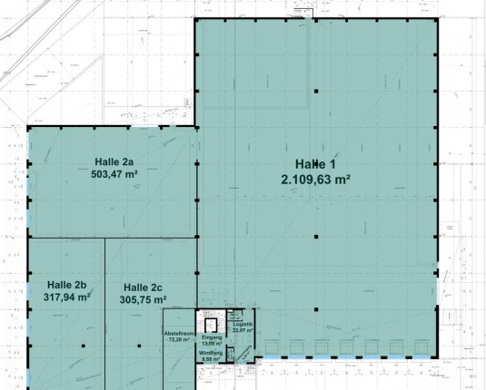 NEUBAU: Hallen & Büroflächen