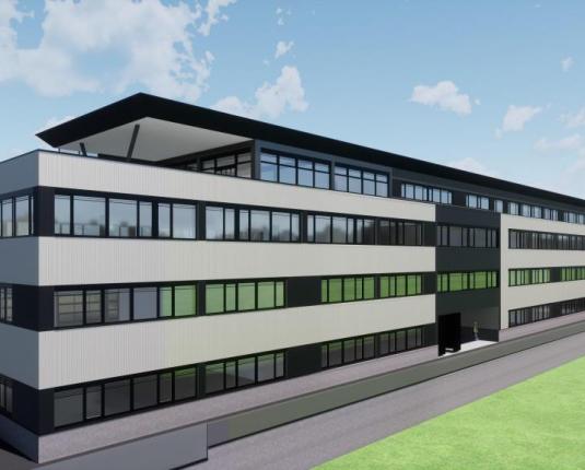 Neubau: Hallen und Produktionsflächen