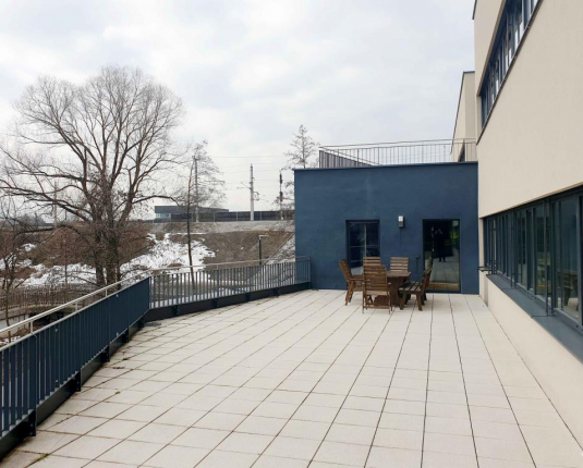 Erfüllung aller Ansprüche – Modern, Terrasse, Glasfront