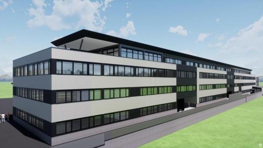 Neubau: Hallen-, Produktions- und Büroflächen