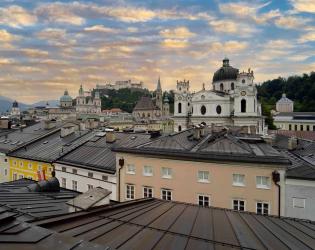 Aussicht über Salzburg Richtung Festung